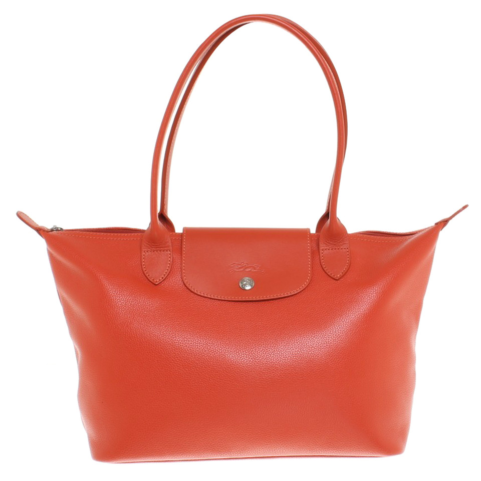 longchamp handtasche in orange second hand longchamp. Black Bedroom Furniture Sets. Home Design Ideas