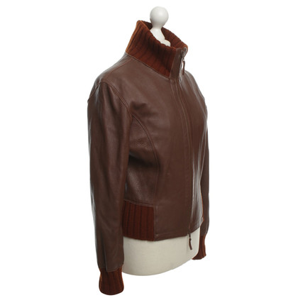 Iris von Arnim Leather jacket in red brown