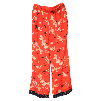 Ganni Pants with a floral pattern