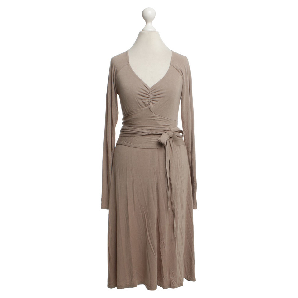 Allude Dress in Khaki