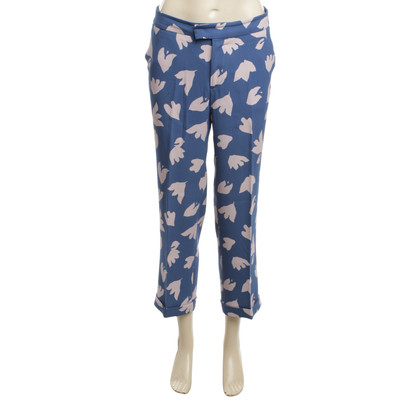 Etro trousers blue-pink Gr. 38