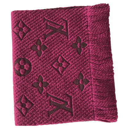 Louis Vuitton Logomania Scarf Cherry