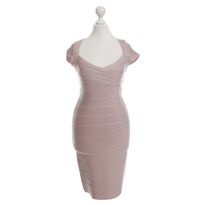 Herve Leger Bodycon dress in nude