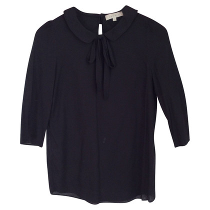 Sandro Claudine neck blouse black