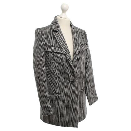 Kenzo Short coat in black / white