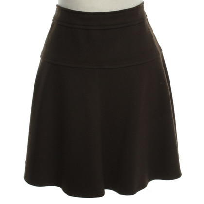 Marc Cain Wool mini skirt in Brown