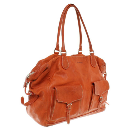 Jil Sander Ledershopper in Orange