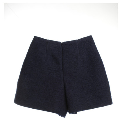 Carven High Waist Shorts in Blue
