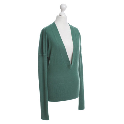 French Connection Green long sleeve v-neck jumper, M