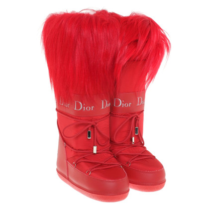 Christian Dior Snow boots with fur trim