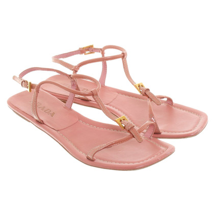 Prada Pink leather sandals