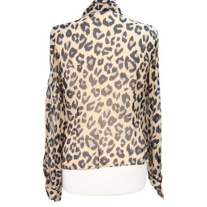 L.K. Bennett Zijden blouse met animal print