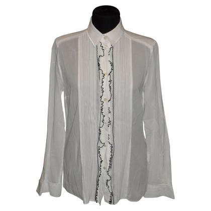 Dolce & Gabbana Bluse mit kleinen Rüschen