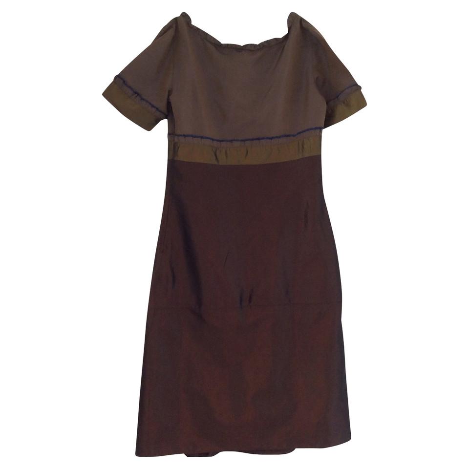 Miu Miu Robe en soie marron