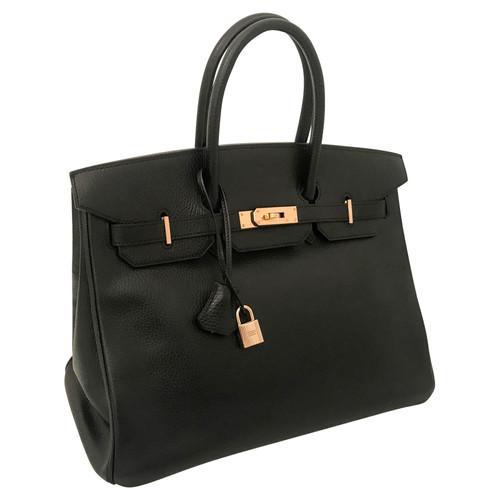 d3d814ba323 Hermès Birkin Bag 35 Leather in Black - Second Hand Hermès Birkin ...