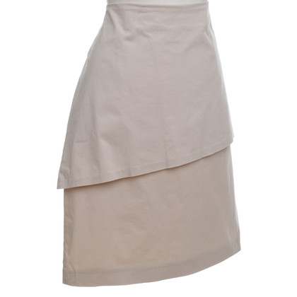 Brunello Cucinelli Cotton skirt in Beige