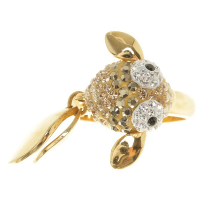 Swarovski Gold colored ring