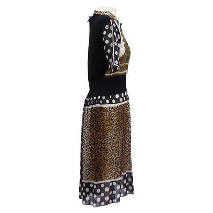 Dolce & Gabbana patroon zijden jurk