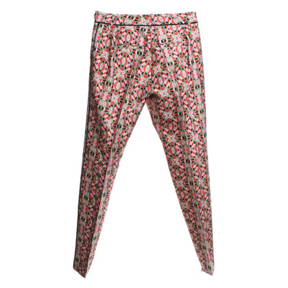 Schumacher trousers with graphical pattern