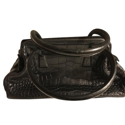 Jil Sander Handtasche aus Krokodilleder