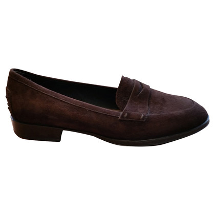 Tod's BRITISH 37.5 LOAFERS BROWN