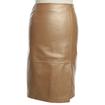 Escada Leather skirt in gold colors