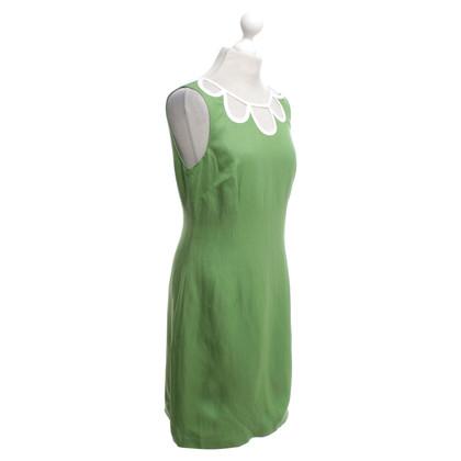 L.K. Bennett Dress in green / white