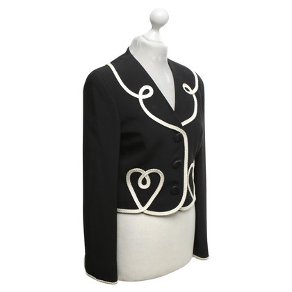 Moschino Cheap and Chic Blazer nero con bordo decorativo