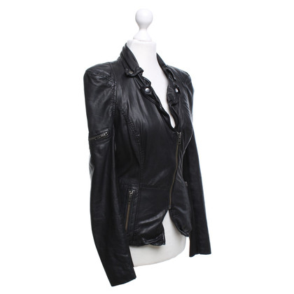 Muubaa Leren jas in used-look