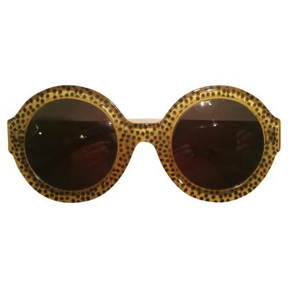 Christian Dior Runde Sonnenbrille mit Punkten