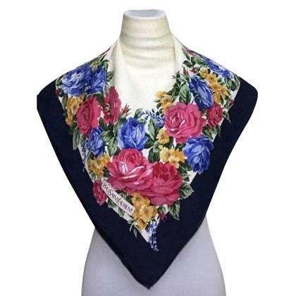 Yves Saint Laurent Zijden sjaal met print