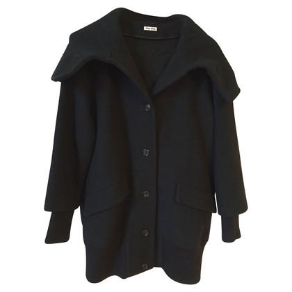 Miu Miu Miu Miu zwarte T.36 Coat