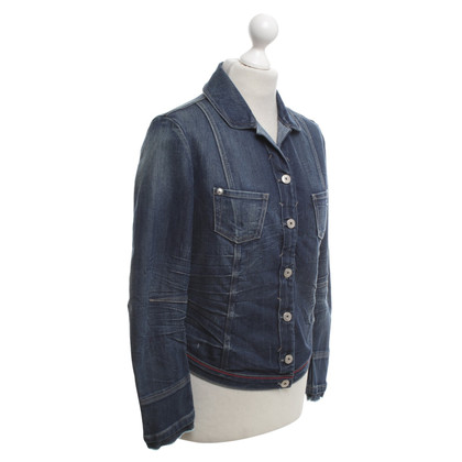 Marithé et Francois Girbaud Denim jacket in crash optics