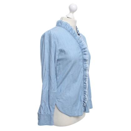 Isabel Marant Etoile Light Blue Jean Blouse