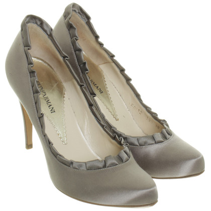 Armani Pumps in Satin-Optik