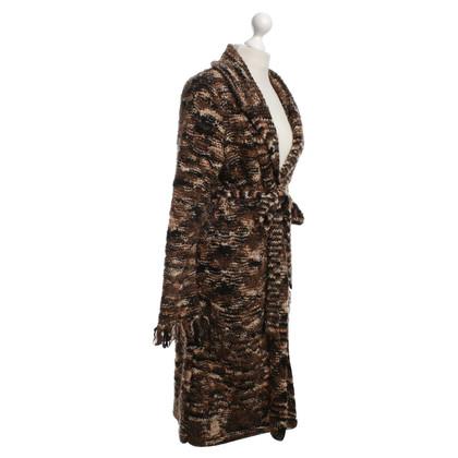 Bogner manteau tricoté avec motif