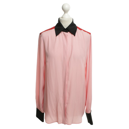 Jonathan Saunders Bluse in Rosa/Schwarz/Rot