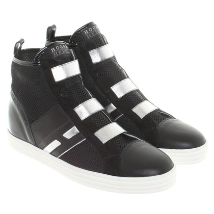 Hogan Sneakers in nero / argento