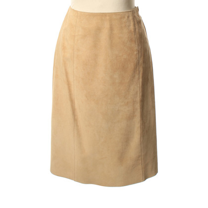 Miu Miu Suede skirt in light beige