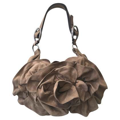 Yves Saint Laurent Nadja Flower Bag, Wild leather