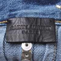Saint Laurent gonna jeans con borchie