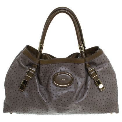 Chloé Shoppers from ostrich leather