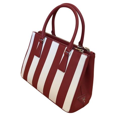 Bilder Zum Verkauf Echt Verkauf Online Prada Lederhandtasche Bunt / Muster Freies Verschiffen Beliebt Spielraum Sehr Billig 10XWdM