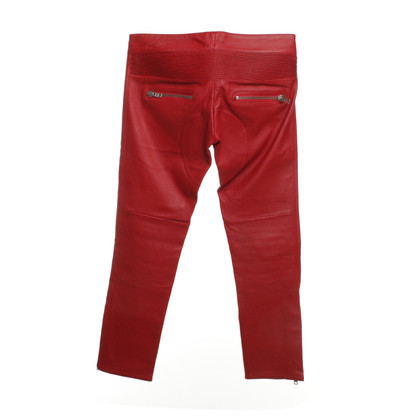 Isabel Marant Leather pants in red