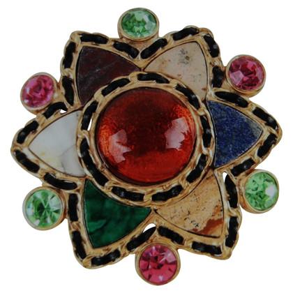 Chanel Brooch with semi-precious stones