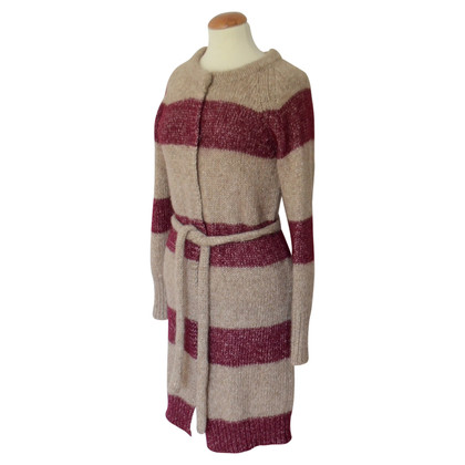 Humanoid Knitted coat in bicolour