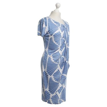 Steffen Schraut Jersey-Kleid in Blau/Weiß