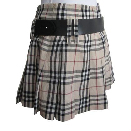 Burberry linen skirt