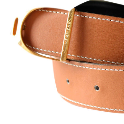 Hermès Reversible Belt beige / black