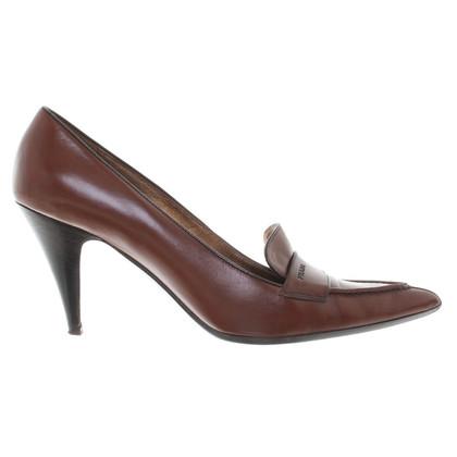 Prada Leatherpumps in brown